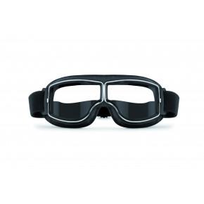 Bertoni antifog bril AF188B zwart leer/ helder