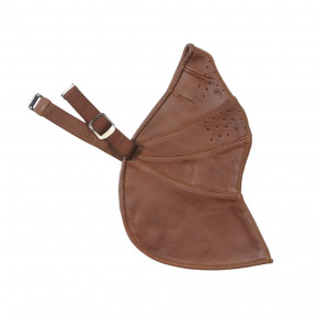 DAVIDA ZNUT BROWN LEATHER FACE MASK UNIVERSAL MK 2