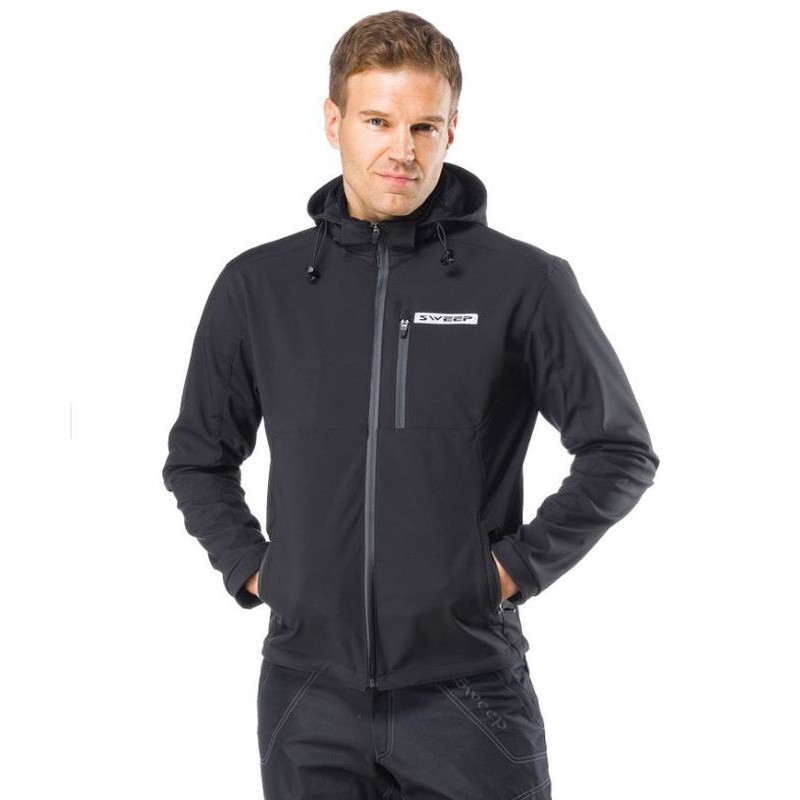 Sweep hoodie softshell Kevlar zwart