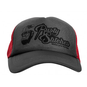 Rusty Stitches cap Davy grey red