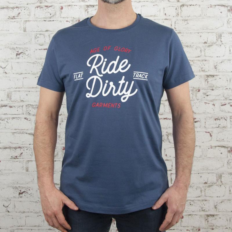 Age of Glory Ride Dirty T-shirt indigo
