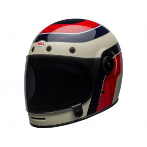 BELL Bullitt Carbon Helmet Hustle Mat/Gloss Red/Sand/Candy Blue