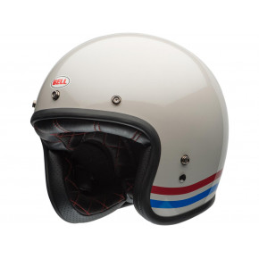 BELL Custom 500 DLX Helmet Stripes Pearl White