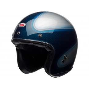 BELL Custom 500 Carbon Helmet RSD Gloss Candy Blue Carbon Jager