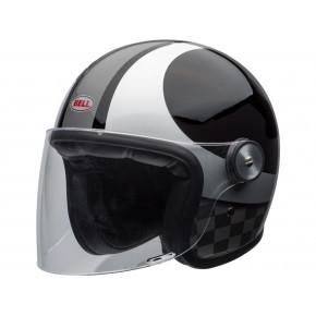 BELL Riot Helmet Gloss Black/Silver Cheks