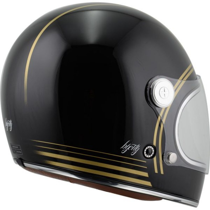 Bycity Roadster Gold Black helm