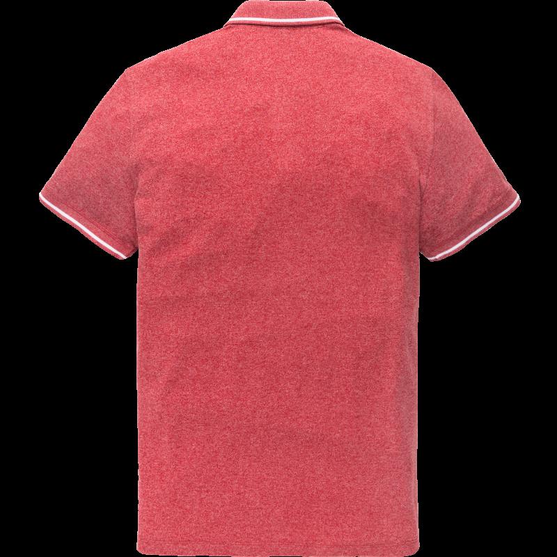 Vanguard Mouline Pique short sleeve Polo Pompeian Red