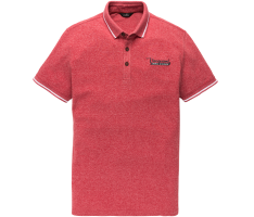 Vanguard Mouline Pique short sleeve Polo Pompeian Red