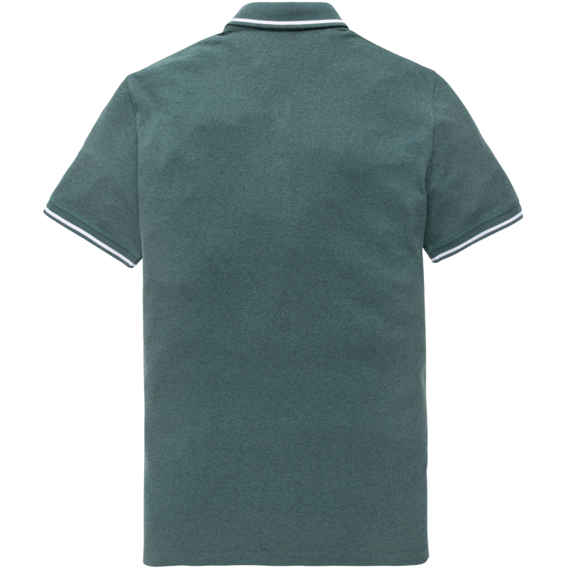 Vanguard Mouline Pique short sleeve Polo Hydro