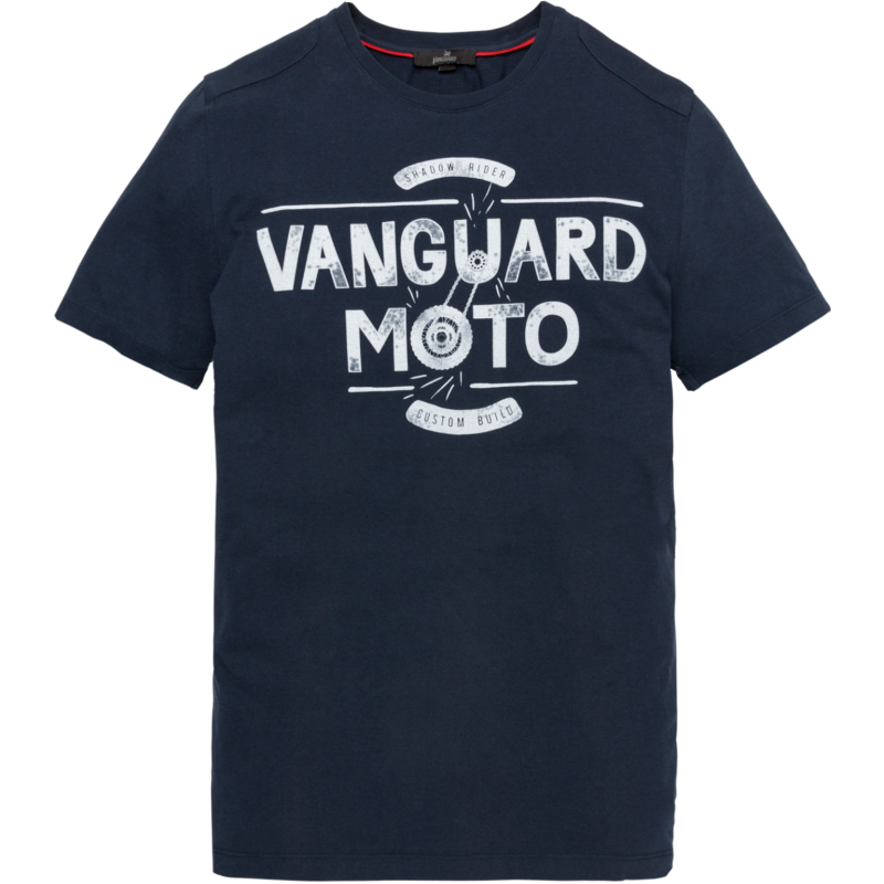 Vanguard R-neck Single Jersey donker blauw
