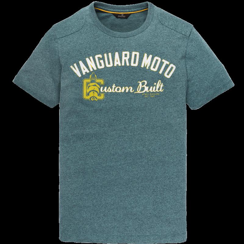 Vanguard Mouline Jersey Crew Neck Tee T-shirt Hydro