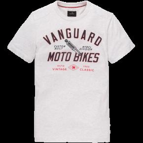 Vanguard Mouline Jersey Crew Neck Tee T-shirt Bone White