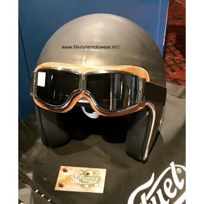 Goggle Gregy brown/chroom