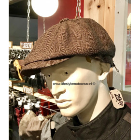 Peaky cap brown